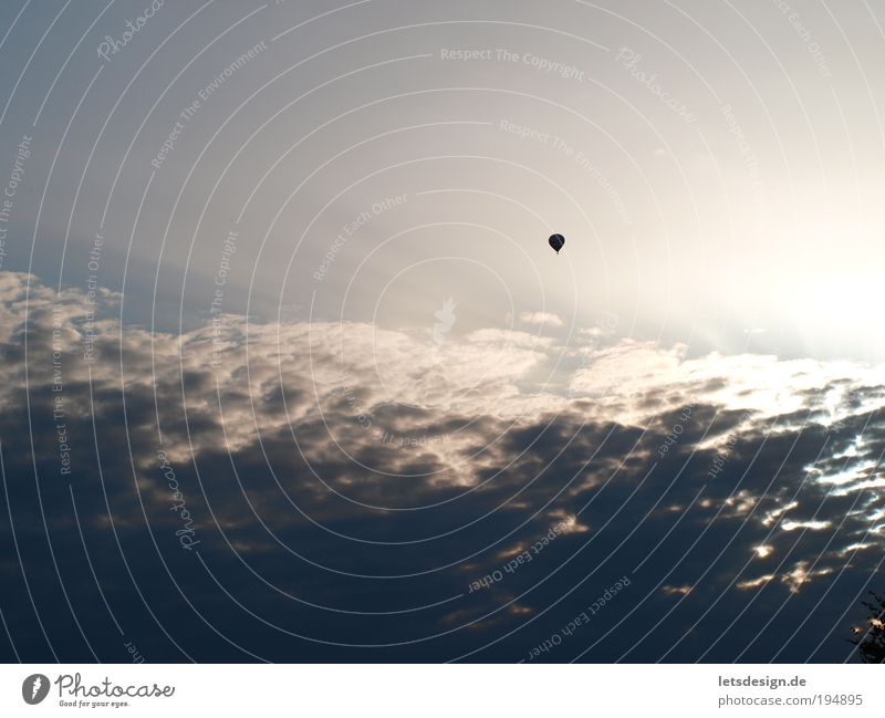 Sky Blue Clouds Far-off places Landscape Air Flying Perspective Aviation Observe Infinity Hot Air Balloon Means of transport Environment Sky only
