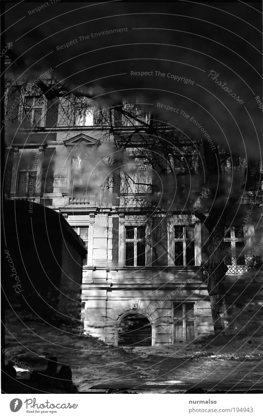 Black Mirror Lifestyle Living or residing House (Residential Structure) Dream house Art Environment Beautiful weather Old town Deserted Facade Window Door
