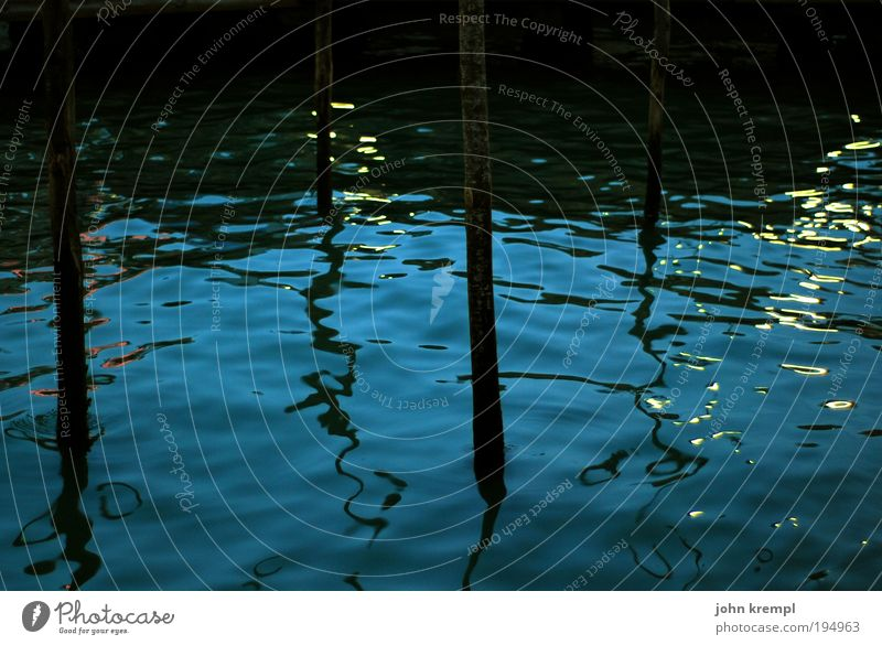 venetian blue Waves Ocean Wet Blue Black Beautiful Subdued colour Night Surface of water Shadow Distorted Water reflection Background picture Sea water Lagoon