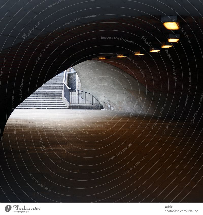 kidnapped Town Bridge Tunnel Stairs Traffic infrastructure Pedestrian Lanes & trails Stone Concrete Metal Threat Dirty Dark Cold Gloomy Under Gray Black