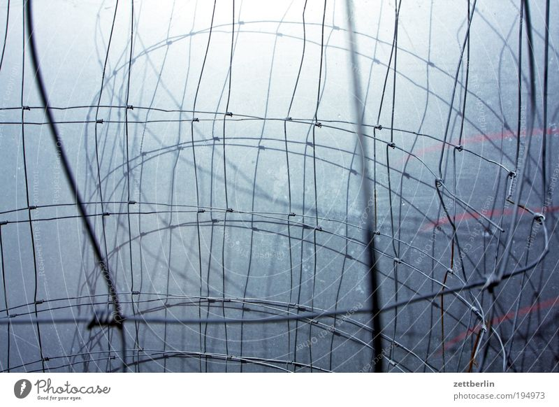Background picture Arrangement Network Computer network Fence Information Technology Coil Interlaced Knot Loop Wire Wire netting fence Wire fence