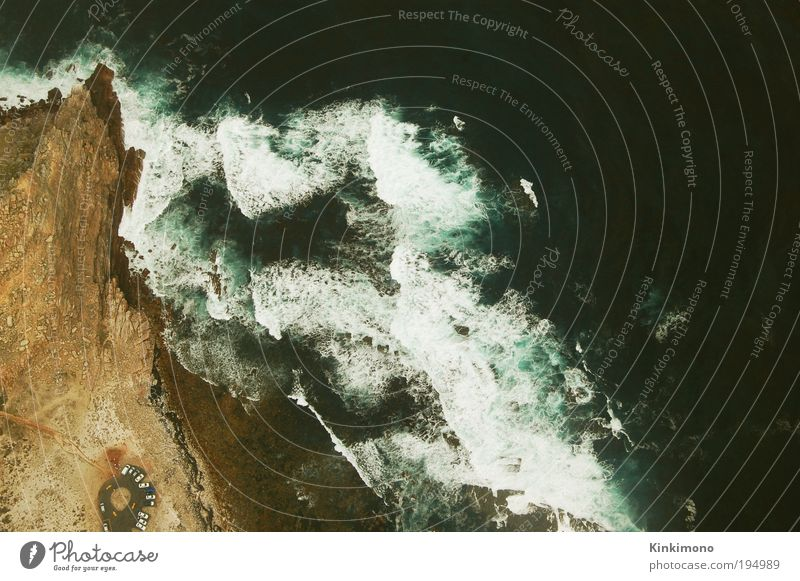 Eyes over Africa Far-off places Freedom Summer Beach Aviation Environment Nature Landscape Plant Elements Earth Sand Weather Waves Coast Ocean Atlantic Ocean