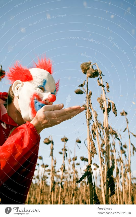 Human being Hand Joy Dream Air Masculine Energy Crazy Dangerous Mask Creepy Discover Trashy Blow Whimsical