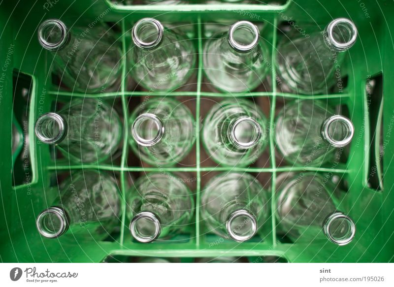 Green Glittering Glass Round Near Clean Plastic Bottle Box Collection Environmental protection Sustainability Accuracy Equal Packaging Perspective