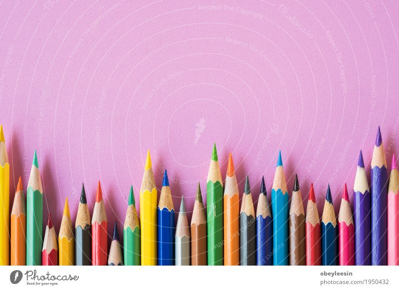 coloring pencils on a pink background Lifestyle Style Design Art Artist Colour photo Multicoloured Studio shot Close-up Detail Macro (Extreme close-up) Morning