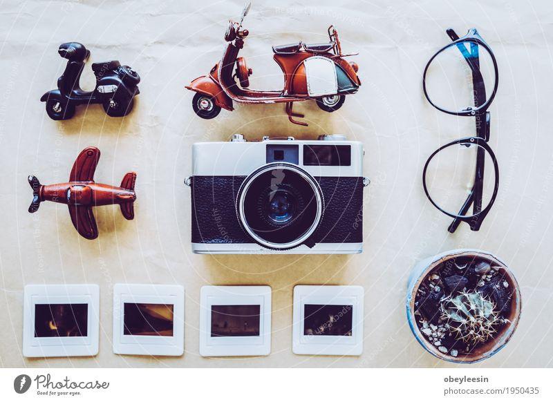 Overhead view of Traveler's accessories Lifestyle Style Art Design Adventure Artist