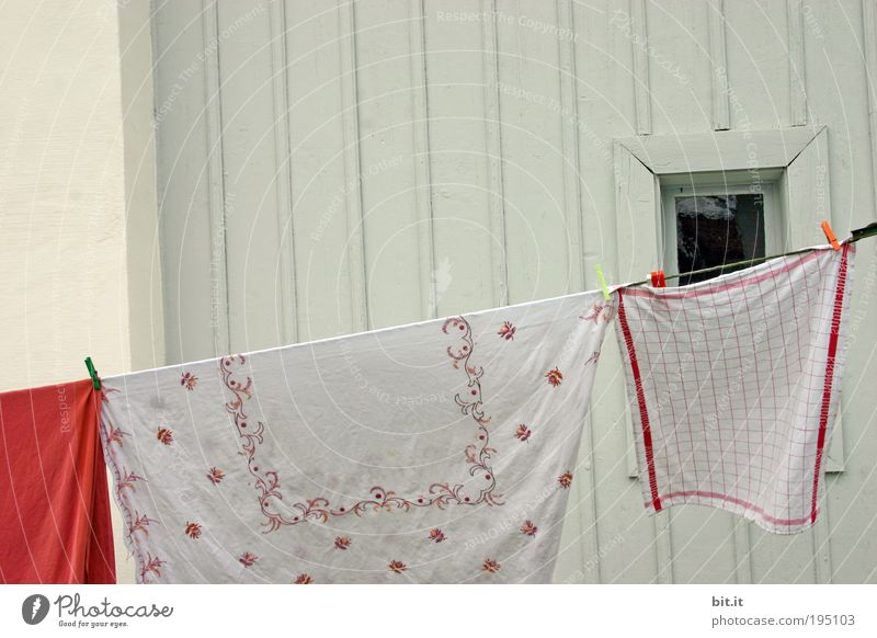 White Window Wall (building) Wood Facade Cloth Clean Pure Hang Washing Window pane Checkered Laundry Dry Blow Household