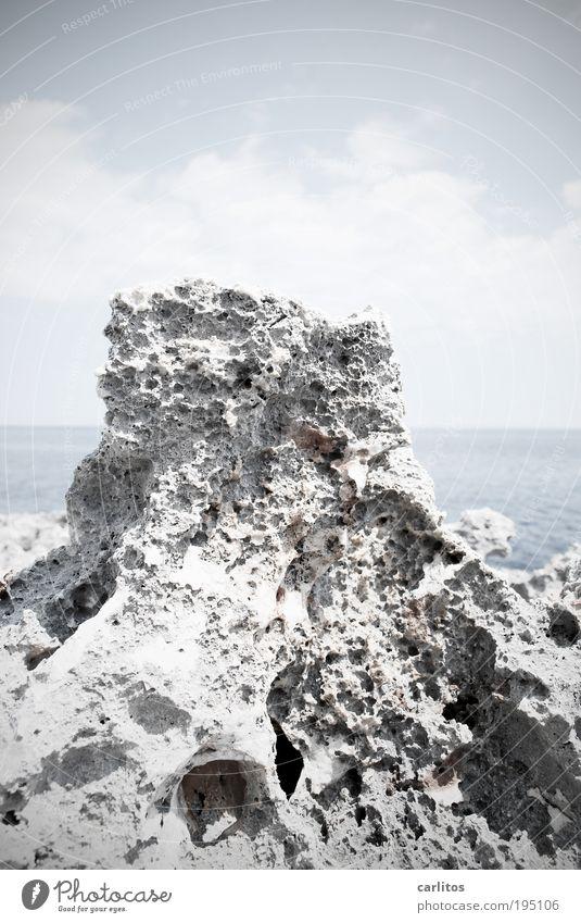 Nature Water Blue White Ocean Summer Environment Warmth Coast Stone Horizon Rock Gloomy Elements Infinity Beautiful weather