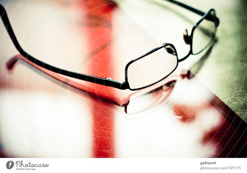 Old Green Red Black Metal Glass Elegant Modern Table Eyeglasses Uniqueness Steel Stress Reflection Snapshot Wisdom