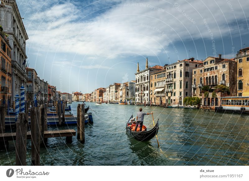 The Gondoliere - Canale Grande Culture Water Spring Summer Autumn Winter Beautiful weather River Venice Italy Europe Town Downtown Old town