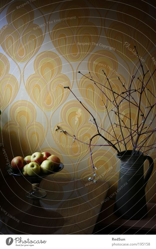Plant Yellow Spring Wood Moody Art Glass Food Fruit Esthetic Retro Bushes Decoration Living or residing Apple Wallpaper