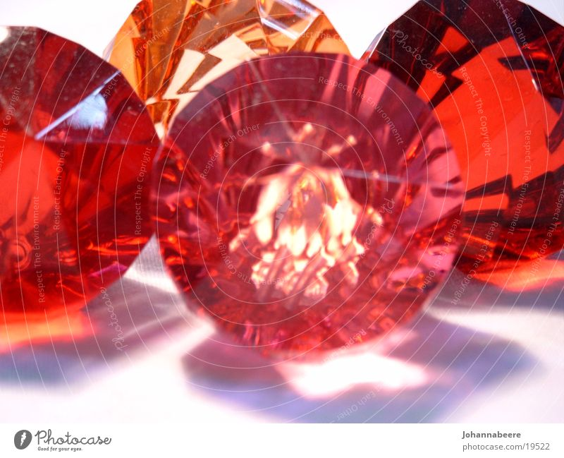 crystals Reflection Crystal structure Glass orange red pink
