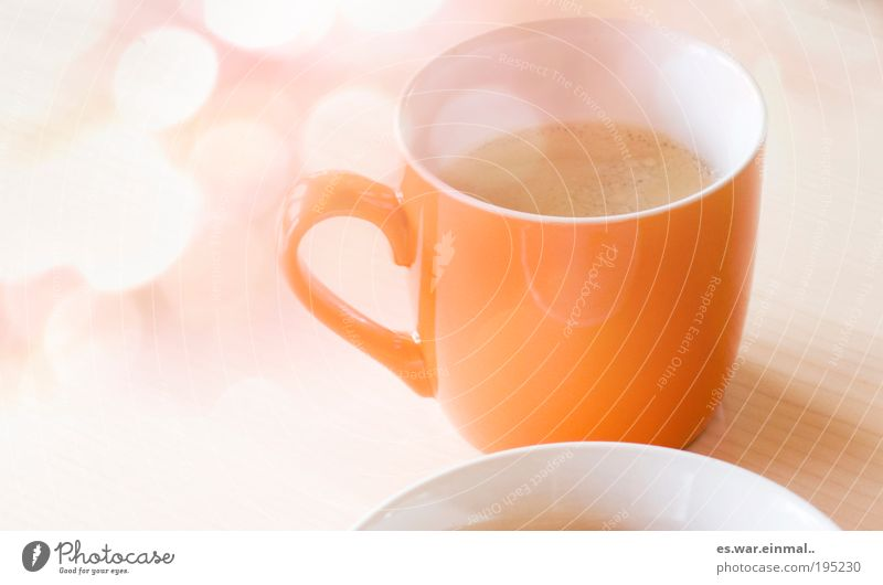 Dream Contentment Orange Coffee Sweet Break Drinking Living or residing Delicate Hot Delicious Breakfast Cup Plate Morning Foam