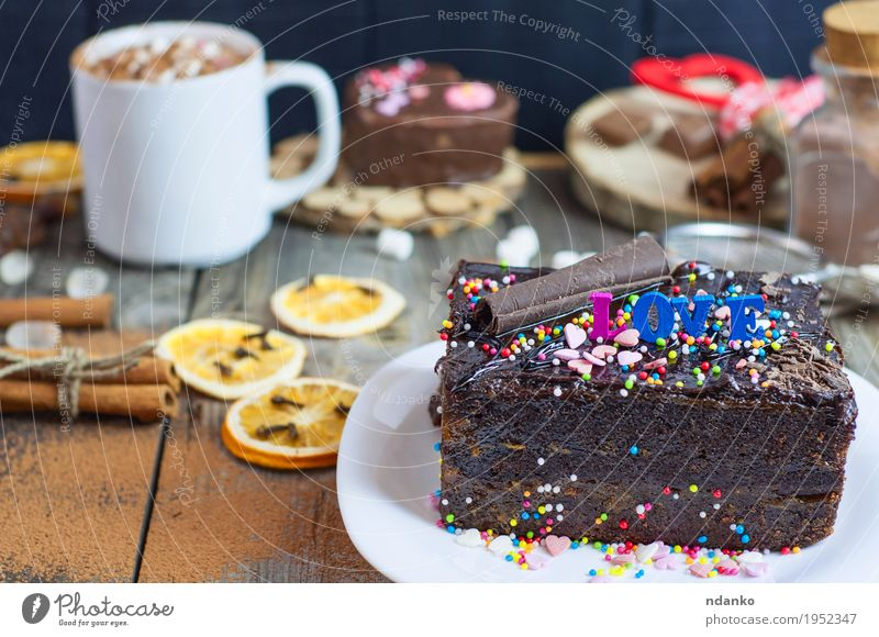 piece of chocolate cake on a white plate White Love Wood Food Gray Brown Beverage Coffee Delicious Restaurant Word Plate Austria Cutlery Cooking Vienna