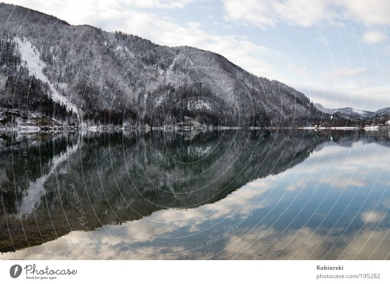Nature Water Beautiful Winter Clouds Loneliness Relaxation Mountain Lake Landscape Ice Contentment Environment Frost Tourism Clean