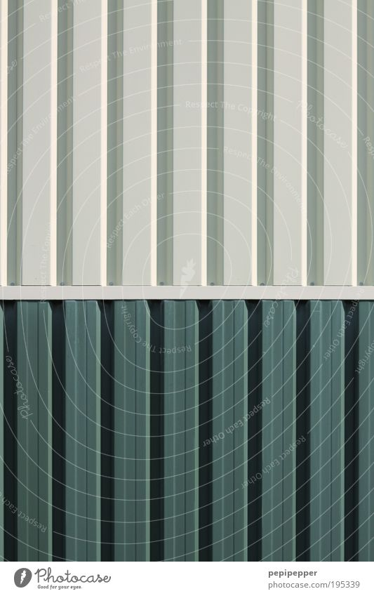 Wall (building) Gray Wall (barrier) Metal Line Facade Construction site Logistics Steel Container Industrial plant Corrugated sheet iron Detail