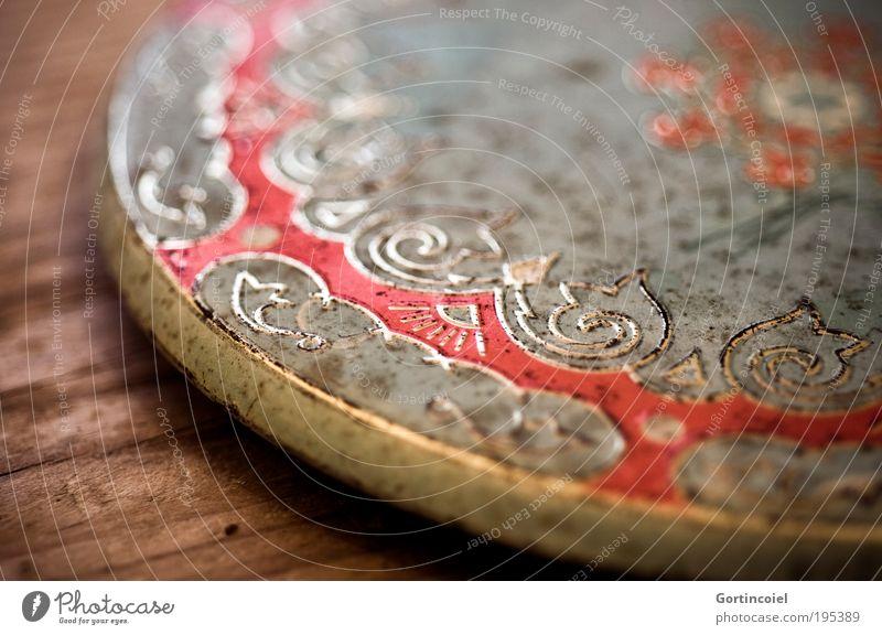 Beautiful Old Style Metal Art Design Elegant Kitsch Decoration Luxury Trashy Table Depth of field Pattern Asia Tin