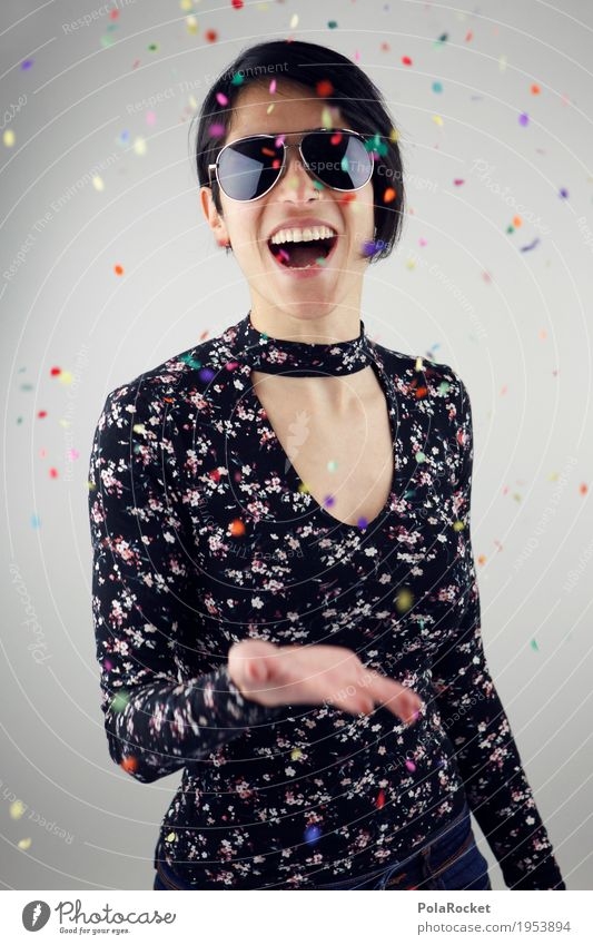 Woman Youth (Young adults) Joy Art Party Youth culture Confetti Party goer Comical Funster Party mood Exuberance Party guest Party night Party space