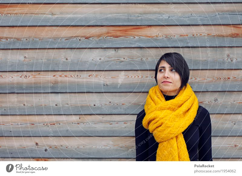 #A# Color contrast 1 Human being Creativity Wooden wall Scarf Woman Sweater Future Futurism Forward-looking Perspective University & College student