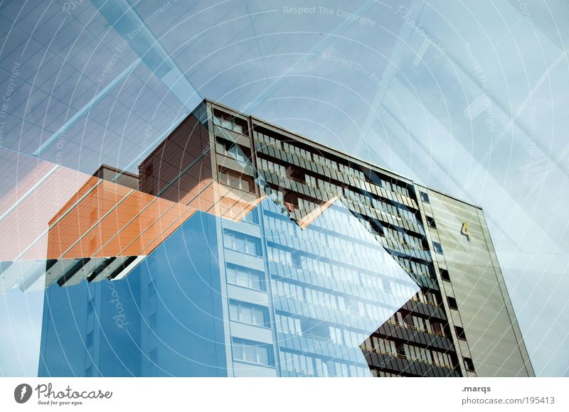 Sky City Architecture Building Style Flat (apartment) Facade Exceptional High-rise New Lifestyle Change Whimsical Stress Hip & trendy Double exposure
