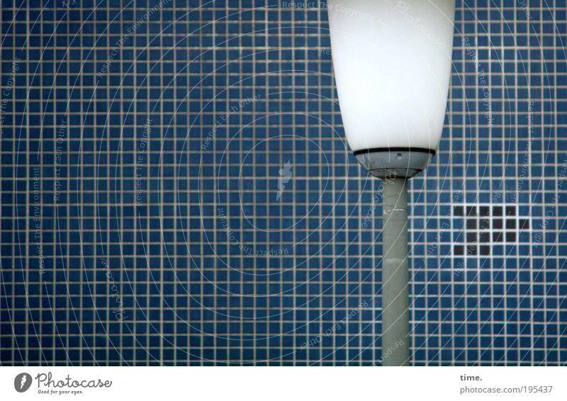 Clearly, there's NO rocket. Lamp Stone stonewalled Tile Mosaic Pipe Iron-pipe Vertical Colour photo Subdued colour Exterior shot Metal Metalware Glass