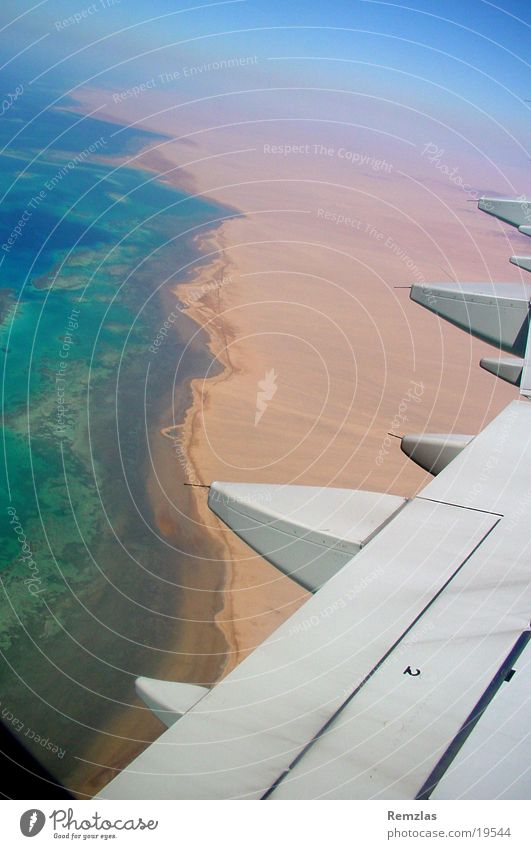 Water Sky Ocean Beach Clouds Window Coast Airplane Aviation Wing Engines Coral