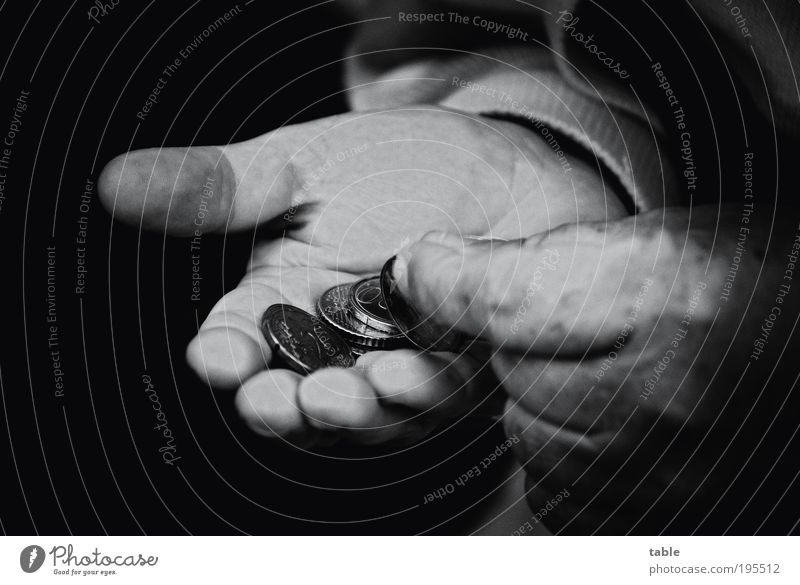 poverty among seniors Unemployment Retirement Masculine Male senior Man Senior citizen Life Hand 1 Human being 60 years and older Coin Money Paying Old Poverty