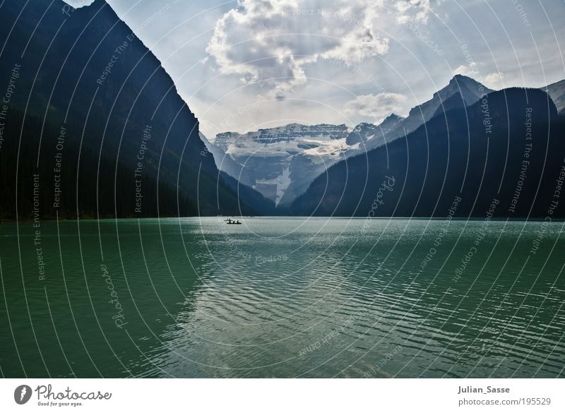 Nature Water Sky Sun Summer Clouds Mountain Landscape Waves Environment Canada Land Feature Time Alberta Rocky Mountains Lake Louise