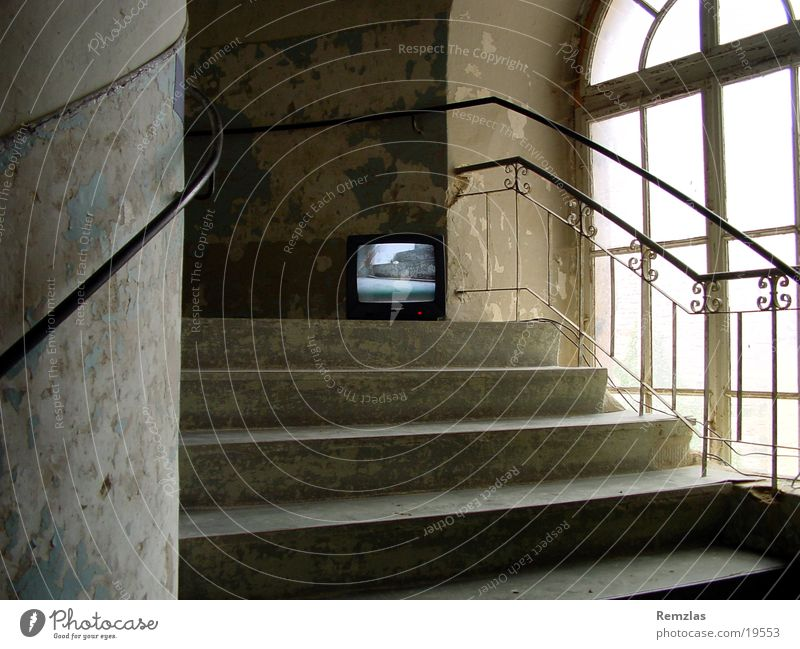 Inclusion 001 Art TV set Weimar Ettersburg Architecture video art Castle Stairs Old openeyes.com