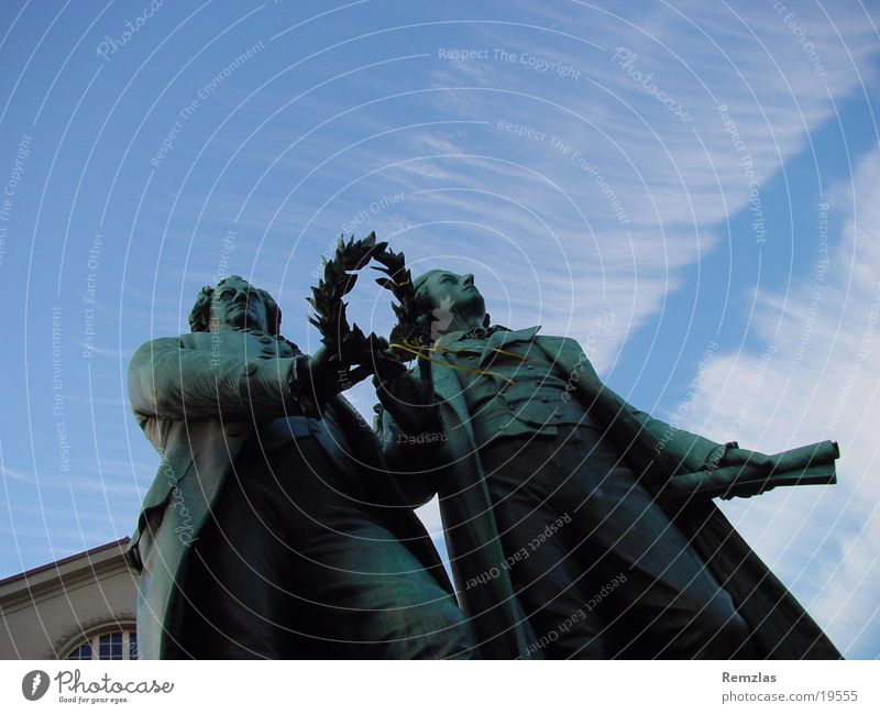 Goethe and Schiller Monument Weimar Culture Human being National theater Closed Goethe-Schiller statue