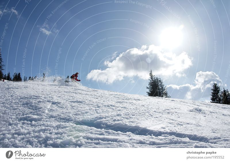 Let's go! Leisure and hobbies Winter Snow Winter vacation Winter sports Skiing Skis Ski run Human being Young woman Youth (Young adults) 1 Alps Mountain