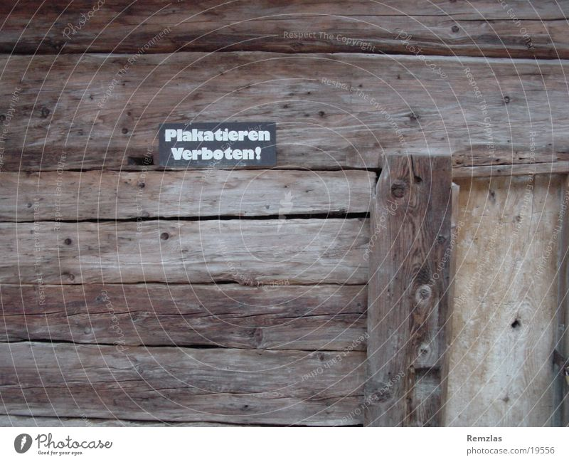 House (Residential Structure) Wood Signs and labeling Things Poster