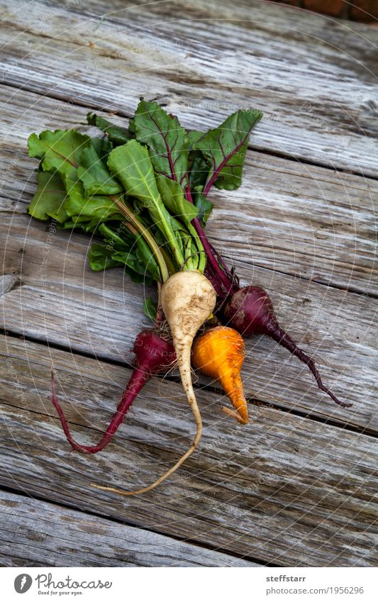 Red, orange and yellow beets Food Vegetable Nutrition Eating Organic produce Vegetarian diet Healthy Healthy Eating Table Plant Agricultural crop Natural Brown