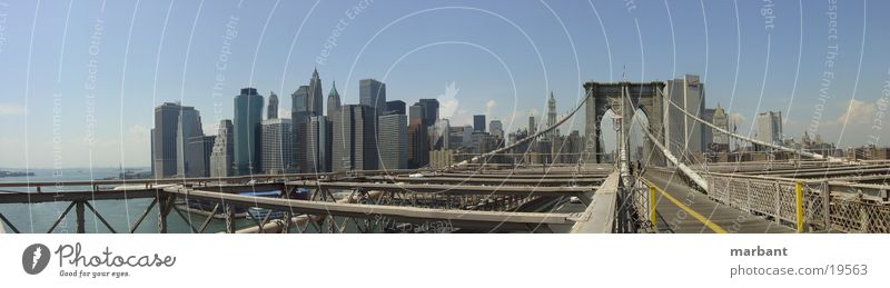 new york skyline 02 New York City Brooklyn Bridge Panorama (View) Architecture Skyline Large Panorama (Format)