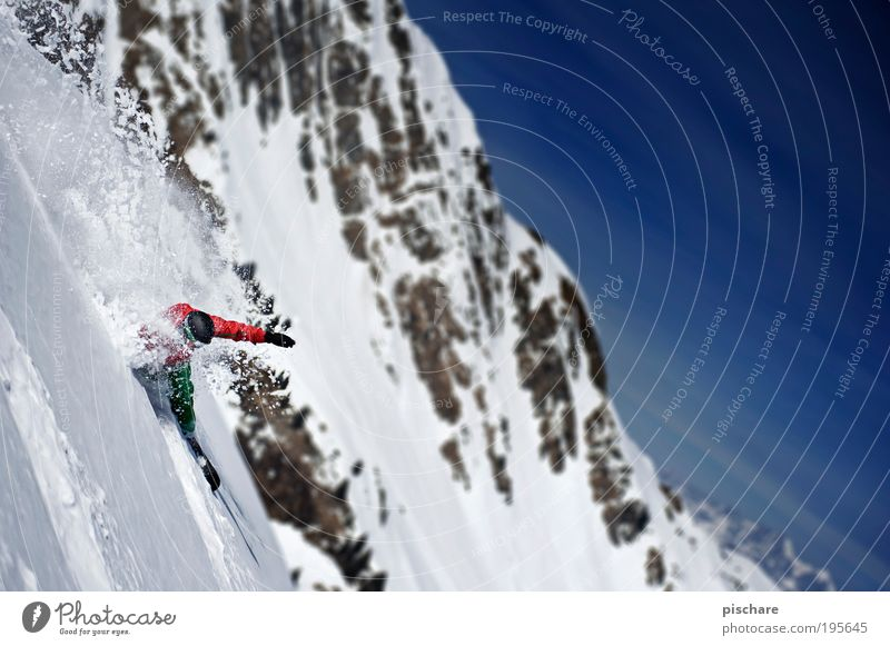 Joy Winter Mountain Snow Sports Lifestyle Freedom Leisure and hobbies Esthetic Beautiful weather Cool (slang) Driving Alps Athletic Passion Brave