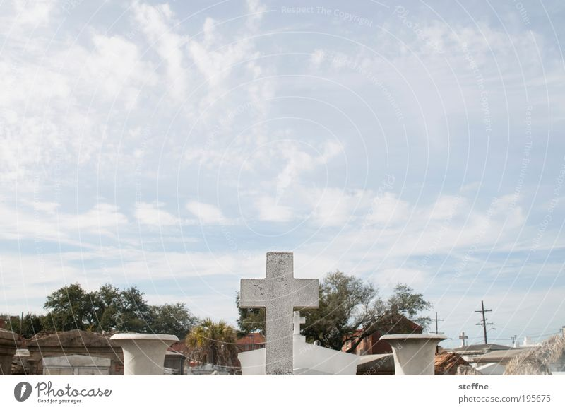 Death Religion and faith USA Christian cross Crucifix Tourist Attraction Cemetery Christianity Grave Louisiana New Orleans