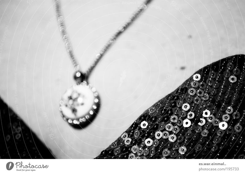 until you get there. Going out Accessory Jewellery Pendant Elegant Protection Black & white photo