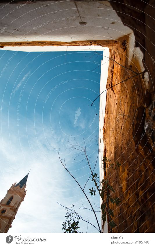 Sky Old Wall (building) Wall (barrier) Small Religion and faith Facade Church Tower Transience Decline Spain Ruin Holy Belief