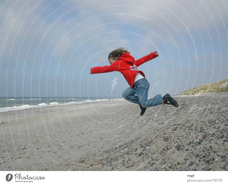Child Water Ocean Life Jump Stone Energy industry Beach dune