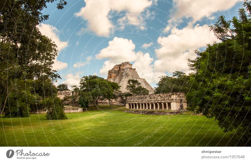 Uxmal, Mexico Vacation & Travel Tourism Trip Far-off places Sightseeing Expedition Camping Summer Ocean Island Hiking Culture Nature Landscape Grass Yucatan