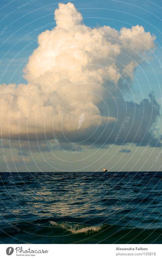 Sky Ocean Clouds Watercraft Waves Coast Wind Weather Horizon Transport Logistics Climate Gale Lakeside Storm Navigation