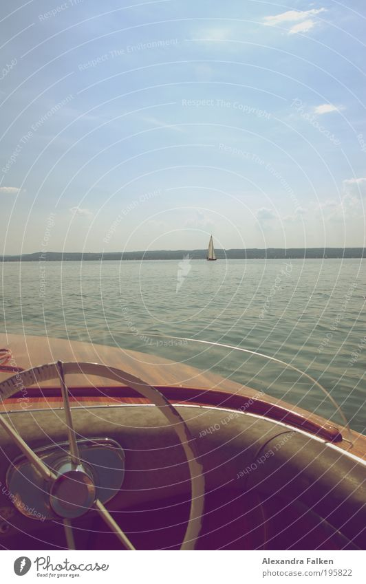 If the winds are blowing. Relaxation Calm Sailing Boating trip Watercraft Navigation Aquatics Nature Sky Horizon Sun Summer Beautiful weather Lake Bavaria