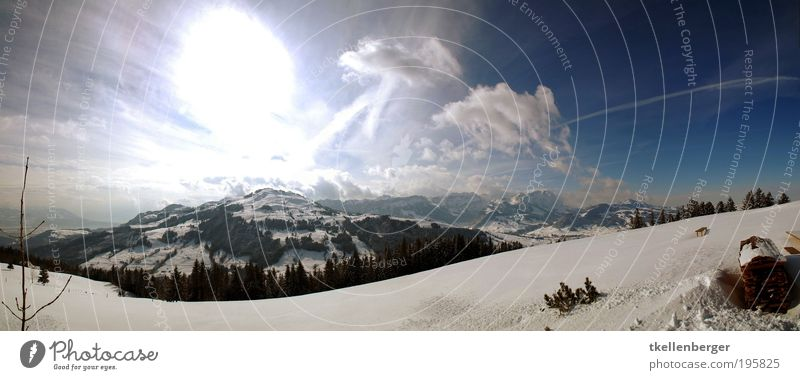 brightbildmountains Nature Sky Clouds Horizon Sun Winter Ice Frost Snow Meadow Forest Alps Mountain Alpstein Peak Snowcapped peak Cold Blue Brown Black White