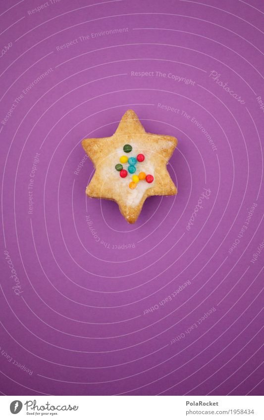 #A# Christmas...Uh..Things Art Esthetic Christmas star Baked goods Christmas & Advent Anti-Christmas Granules Violet Baking Colour photo Multicoloured