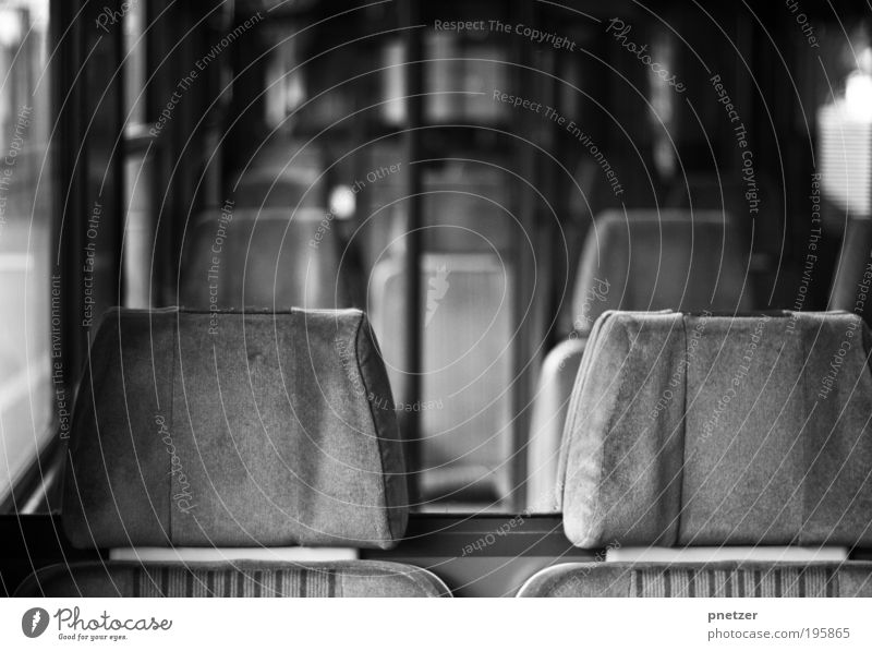 Vacation & Travel Gray Movement Wait Transport Railroad Traffic infrastructure Underground Mobility Black & white photo Claustrophobia Bus Train station