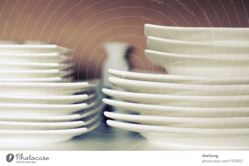 Just ordinary Nutrition Lunch To have a coffee Dinner Crockery Plate Clean White Arrangement Colour photo Interior shot Close-up Deserted Day Shadow Contrast