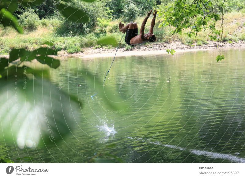 swing flip Lifestyle Style Joy Leisure and hobbies Vacation & Travel Adventure Freedom Summer Summer vacation Climbing Mountaineering Human being Masculine