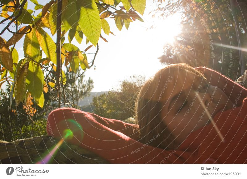 spanischer Herbst - dreaming away.. Nature Vacation & Travel Youth (Young adults) Plant Beautiful Summer Young woman Relaxation Calm Autumn Feminine Spring