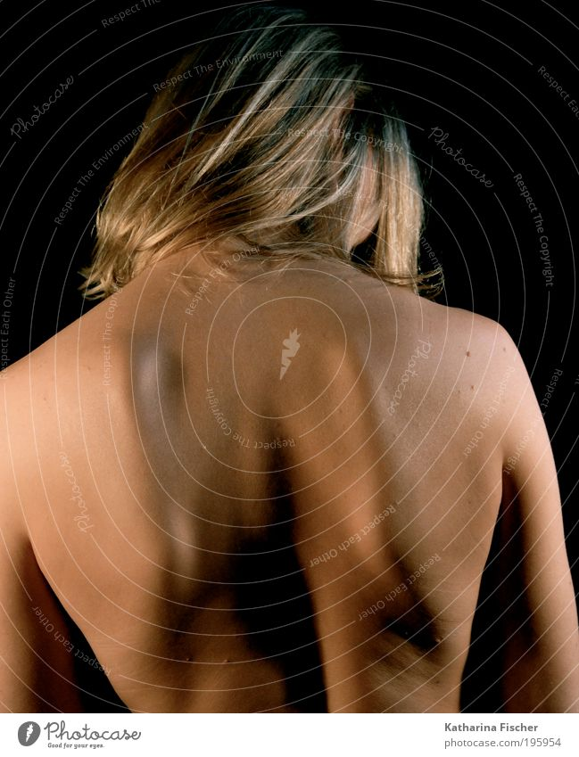 Strong back Body Skin Human being Androgynous Head Back Arm 1 Esthetic Blonde Healthy Muscular Naked Natural Brown Strand of hair back school Back pain Anatomy