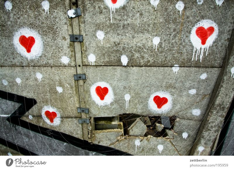 White Red Love Wall (building) Emotions Gray Graffiti Together Heart Search Concrete Hope Romance Information Point Border